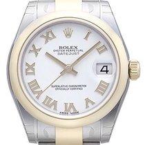 Rolex Datejust 31 Edelstahl Gelbgold 178243 Weiß R Oyster-Band