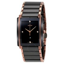 Rado Integral L Black Dial Ceramic Diamond Men's Watch