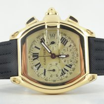 Cartier Roadster XL chronograph full gold (full set)