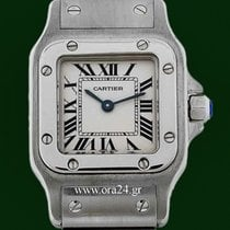 Cartier Santos Galbee Ladies Roman Dial Stainless Steel