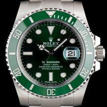Rolex S/S Unworn Green Bezel Hulk Submariner Date B&P...