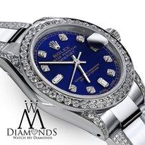 Rolex Ladies 26mm Rolex S/s Oyster Perpetual Datejust Custom...