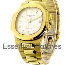 Patek Philippe 3800/1J Nautilus Mens Size - Yellow Gold with...