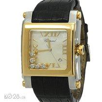 Chopard Happy Sport Square XL 288471 -Quarz -Stahl/Gold -...