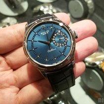 Rolex 50519 Blue Guilloche Dial Cellini Date White Gold 39mm