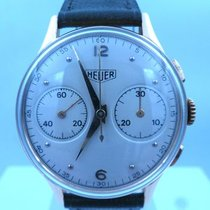 Heuer vintage chronograph BIG EYES gold valjoux 23 ref 81824