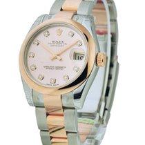Rolex Unworn 178241 Mid Size Steel and Rose Gold Datejust -...