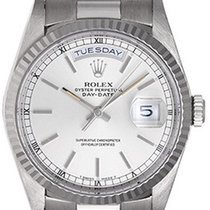 Rolex Day-Date President Men's 18K White Gold Watch 18239...
