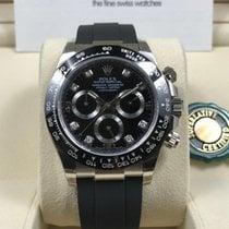 勞力士 (Rolex) 18K White Gold Black Diamonds Dial Daytona Oysterflex