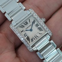 Cartier Ladies Tank Francaise 18k White Gold W/ Diamonds...