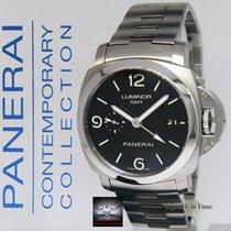 Panerai Luminor 1950 3 Days GMT Steel 44mm Mens Watch Box/Pape...