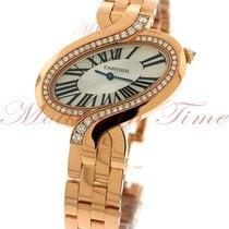 Cartier Delices Large, Silver Dial, Diamond Bezel - Pink Gold...