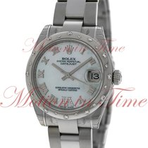 Rolex Datejust 31mm, Mother of Pearl Dial with Diamonds set on...