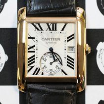 Cartier W5330001 Tank MC Large Model Silver Dial Rose Gold