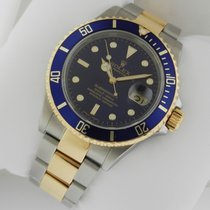 Rolex Submariner Pre-Owned SS 18k YG Blue Dial Auto 16613