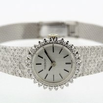 Tissot Vintage Diamonds solid 18K White Gold Ladies Watch Cal....