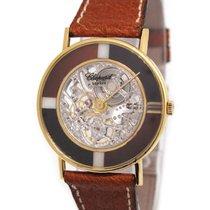 Chopard 18K Gold Skeletonised Wristwatch, Onxy x Tigereye
