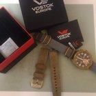 Poljot Vostok-Europe Almaz Grand Chrono Quartz,Black PVD,Gold PVD