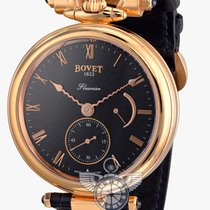 Bovet Fleurier Amadeo, Black Dial - Rose Gold on Strap