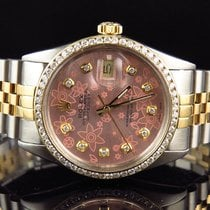 Rolex Datejust 2 Tone 18k Stainless Steel Jubilee Band Pink...