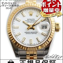 ロレックス (Rolex) 【ロレックス】デイトジャスト レディース腕時計コンビ 自動巻きホワイト文字盤 ステンレスイエロー...