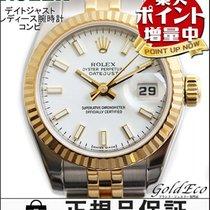 롤렉스 (Rolex) 【ロレックス】デイトジャスト レディース腕時計コンビ 自動巻きホワイト文字盤 ステンレスイエローゴー...