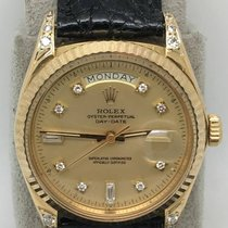 Rolex Vintage Day Date 1803 18k Yellow Gold Afterset diamonds