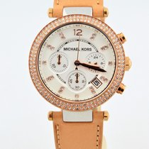 Michael Kors Glitz Chronograph Rose Stainless Steel Watch Mk-5633