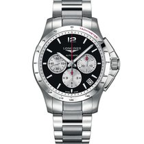Longines Men's L36974966 Conquest Chronograph Watch