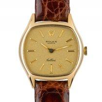 Rolex Cellini Gelbgold Handaufzug Armband Leder 26x23mm...
