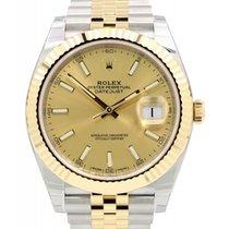 Rolex Datejust 41 126333-GLDSJ Champagne Index Yellow Gold...