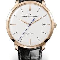 Girard Perregaux 1966 41 MM Pink Gold Dial White Strap Black...
