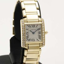 Cartier Tank Francaise Small size Yellow Gold and Diamonds -...