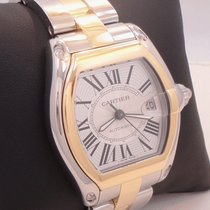 Cartier Roadster W62031y4 Large Automatic Two Tone 18k Yellow...