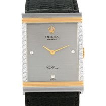 Rolex Cellini Vintage 18k White And Yellow Gold Diamond Mens...
