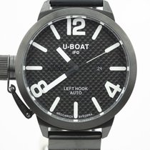 U-Boat Black Pvd Left Hook Carbon Fiber Automatic Watch Complete