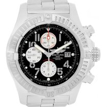 Breitling Aeromarine Super Avenger Black Dial Mens Watch A13370