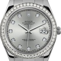 Rolex 41mm Datejust II Stainless Steel 116334 Custom Silver...