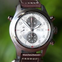IWC Spitfire Double Chronograph Auto Silver dial IW371806