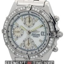 Breitling Chronomat Stainless Steel Factory Diamond Bezel MOP...