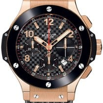 Hublot Big Bang Rose Gold Ceramic Rubber Chronograph Automatic...