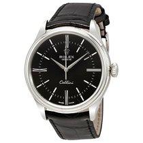 Rolex Cellini Time Black Dial Automatic Men's 18 Carat...