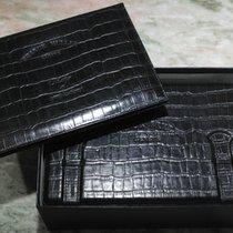 Franck Muller vintage complete watch box leather black wallet...