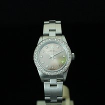 Rolex 76080 Oyster Perpetual Diamond Dot and Diamond Bezel