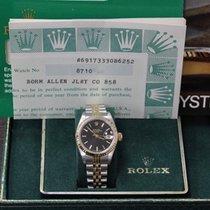 Rolex Ladies 69173 18K Yellow Gold & Stainless Steel Black...