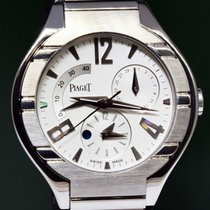 Piaget Polo 45 18k White Gold Automatique Complication Mens Watch