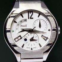 Piaget Polo 45 18k White Gold Automatique Complication Mens Watch