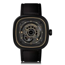 Sevenfriday P-Series Black Gold Automatic Mens Watch P2/02