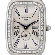 Longines Equestrian Steel & Diamond Womens Watch Silver...