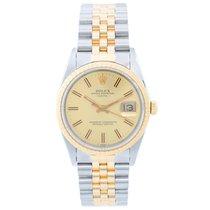 Rolex Date Men's 2-Tone Steel & Gold Watch 15223...